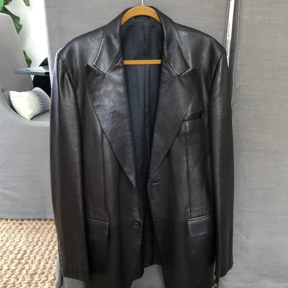 aea7241d9 Gucci Men's leather jacket designed by Tom Ford